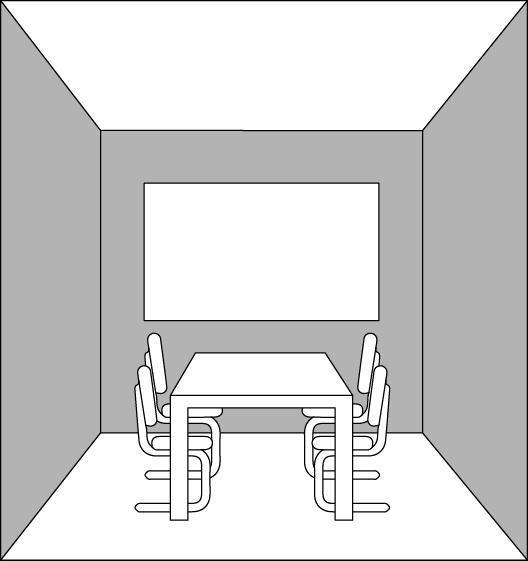 Raum mit dunkler Wand