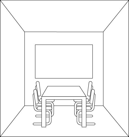 Raum mit heller Wand
