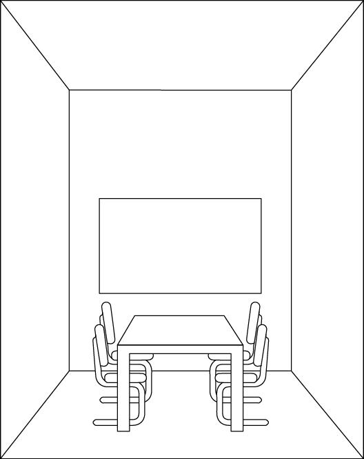 Raum mit hoher Decke
