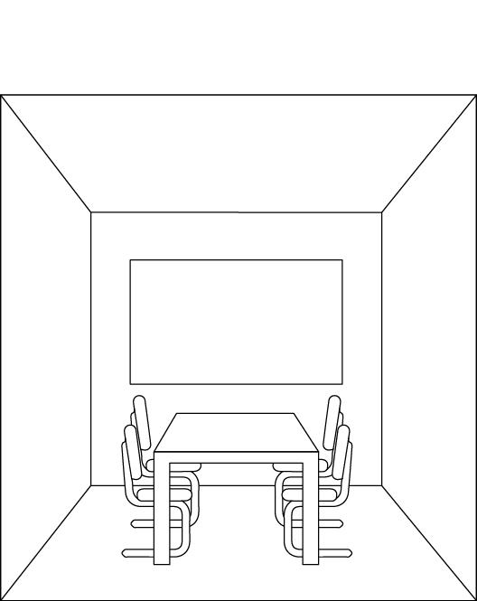 Raum mit tiefer Decke