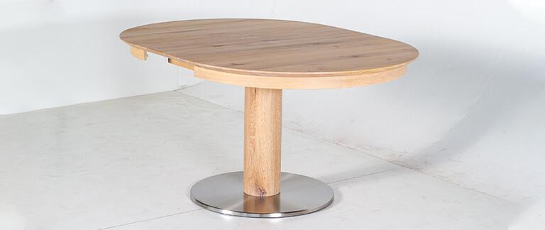 Esstisch Kronos aus Massivholz ausgezogen