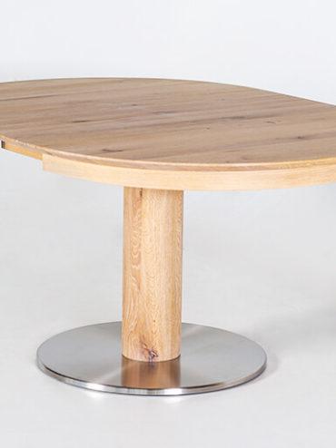 Esstisch Kronos aus Massivholz mit Bodenplatte