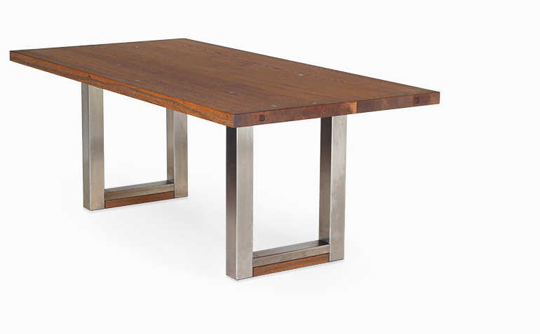 Esstisch mit Ansteckplatte