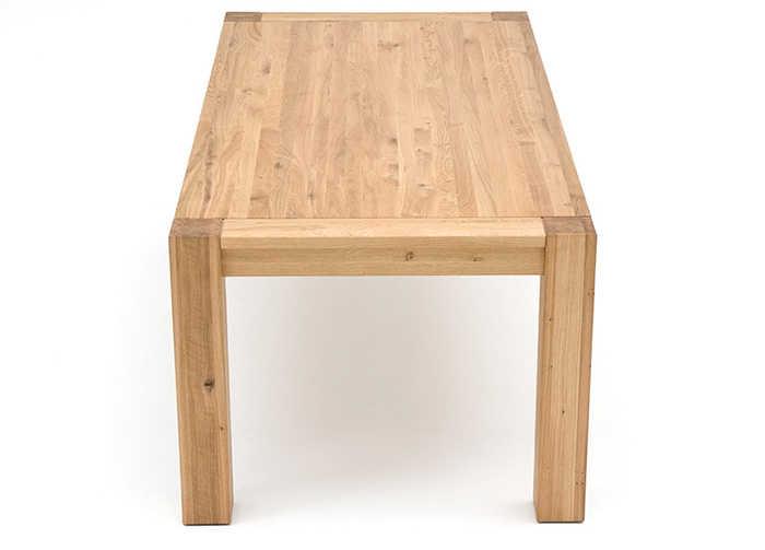 Esstisch mit Gestellauszug aus Massivholz