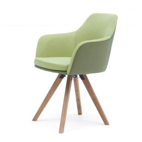 Esszimmer-Sessel mit Stoff-Leder-Bezug - COMNATA Esstisch